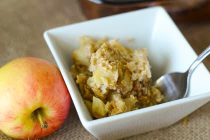 Gluten Free Baked Caramel Apple Oatmeal