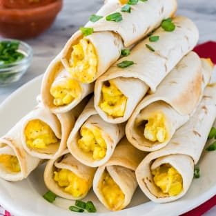 Green chile egg taquitos photo