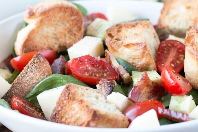 Avocado Caprese Panzanella Salad Photo