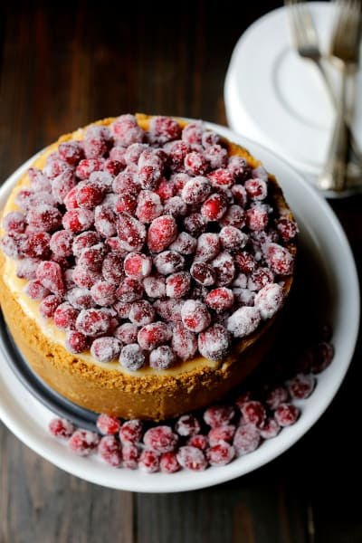 Cranberry Eggnog Cheesecake Image