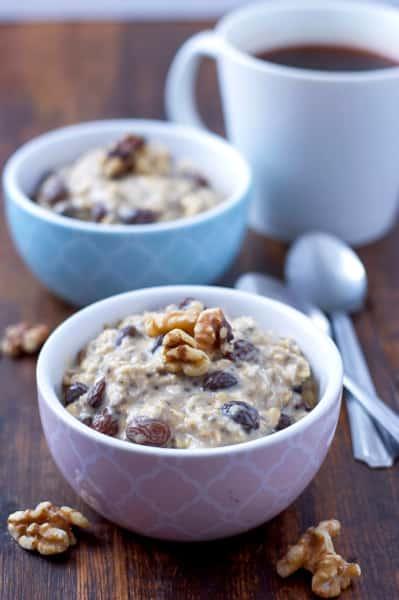 Gluten Free Oatmeal Raisin Overnight Oats Image