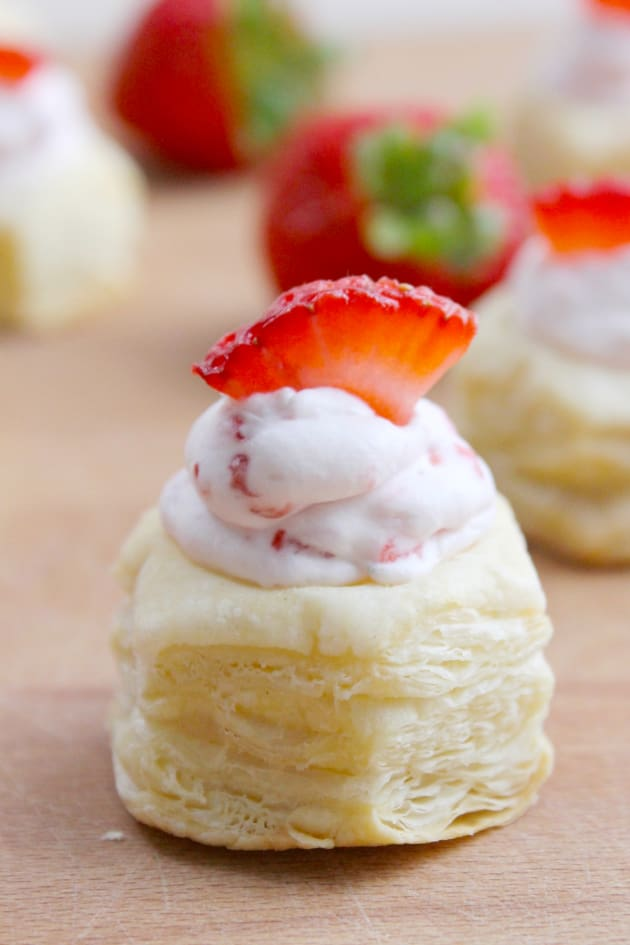 Strawberry Cream Puff Pastry Cups Picture