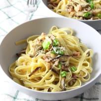 Pancetta Mushroom Fettuccine Recipe