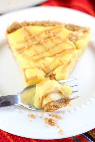 Peanut Butter Banana Pudding Tart Image