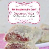 Red Raspberry Pie Crust Cinnamon Rolls