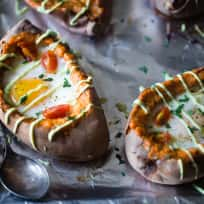 Whole 30 Mexican Egg Baked Sweet Potatoes Recipe