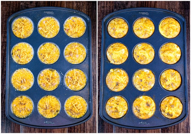 Baked Ham and Cheese Egg Muffins Image
