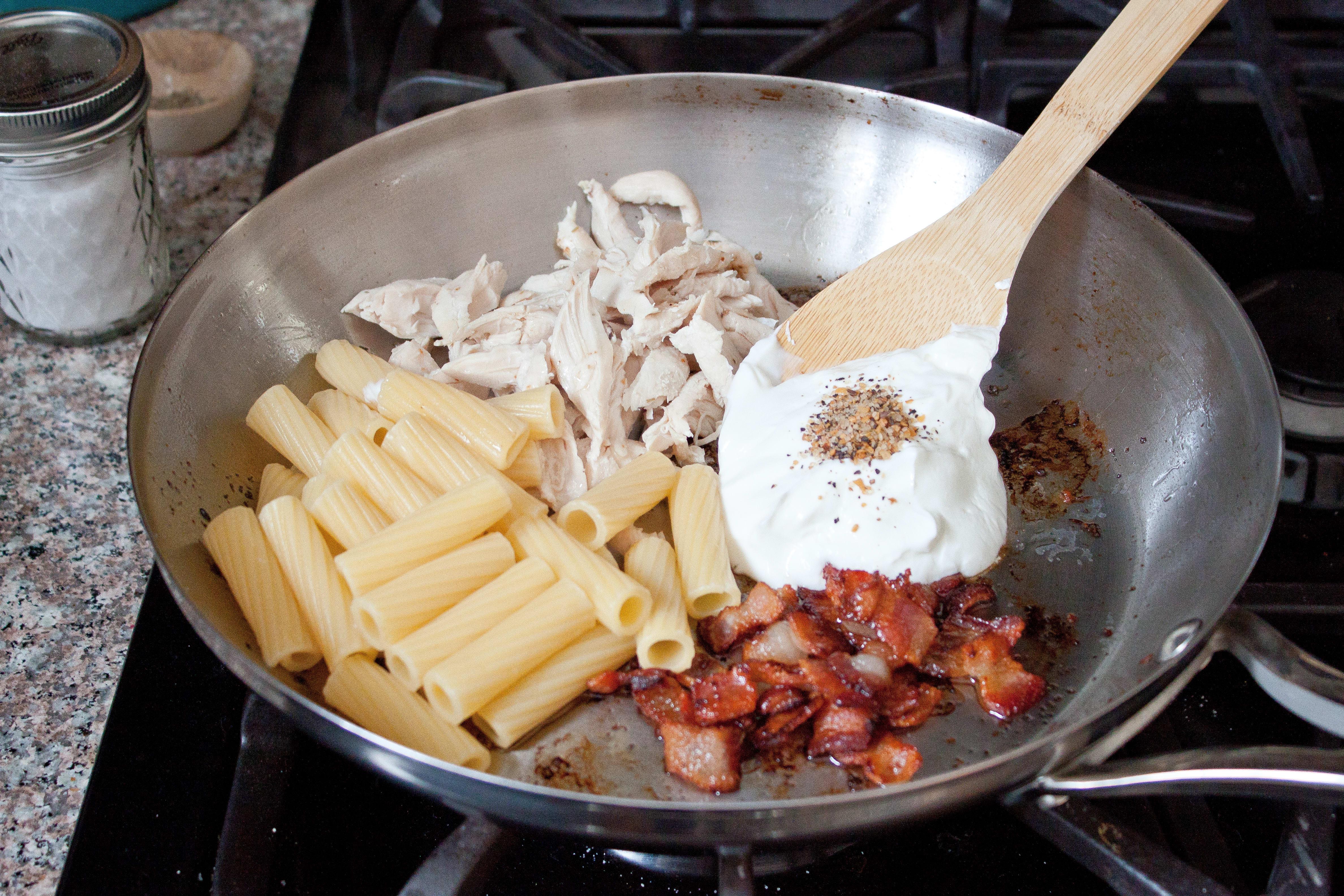 Chicken Bacon Pasta Creamy 5 Ingredient Supper