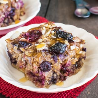 Almond berry baked oatmeal photo