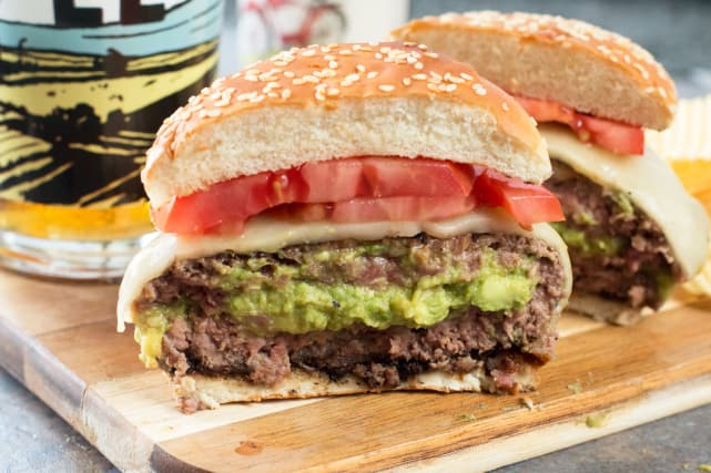 Bacon-Wrapped Guacamole Burger Bombs Recipe