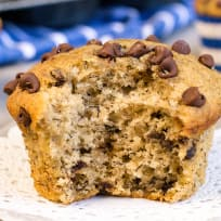Peanut Butter Chocolate Chip Banana Muffins Recipe