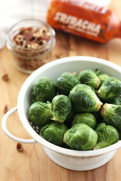 Maple Roasted Brussels Sprouts with Sriracha Picture