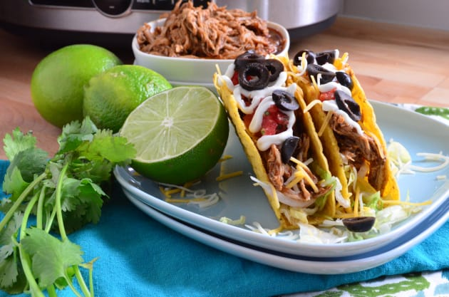 how to make shredded chicken tacos on the stove