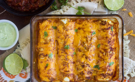 Healthy Chicken Enchiladas: Brinner Beauty
