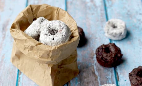 Chocolate Avocado Mini Donuts Photo