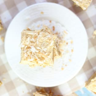 Peanut butter coconut blondies photo