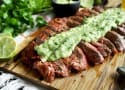 Chipotle Flank Steak with Avocado Salsa Recipe