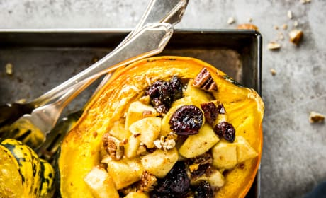 Cranberry Apple Stuffed Acorn Squash Photo