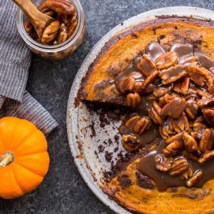 Bourbon brownie pumpkin pie photo