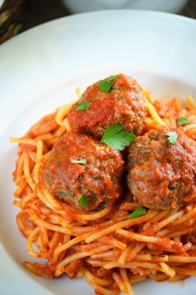 Gluten Free Baked Italian Meatballs Picture