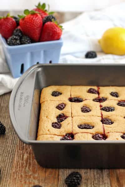 Lemon Blackberry Baked Pancake Picture