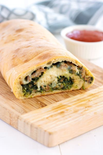 Stuffed Spinach Bread Pic