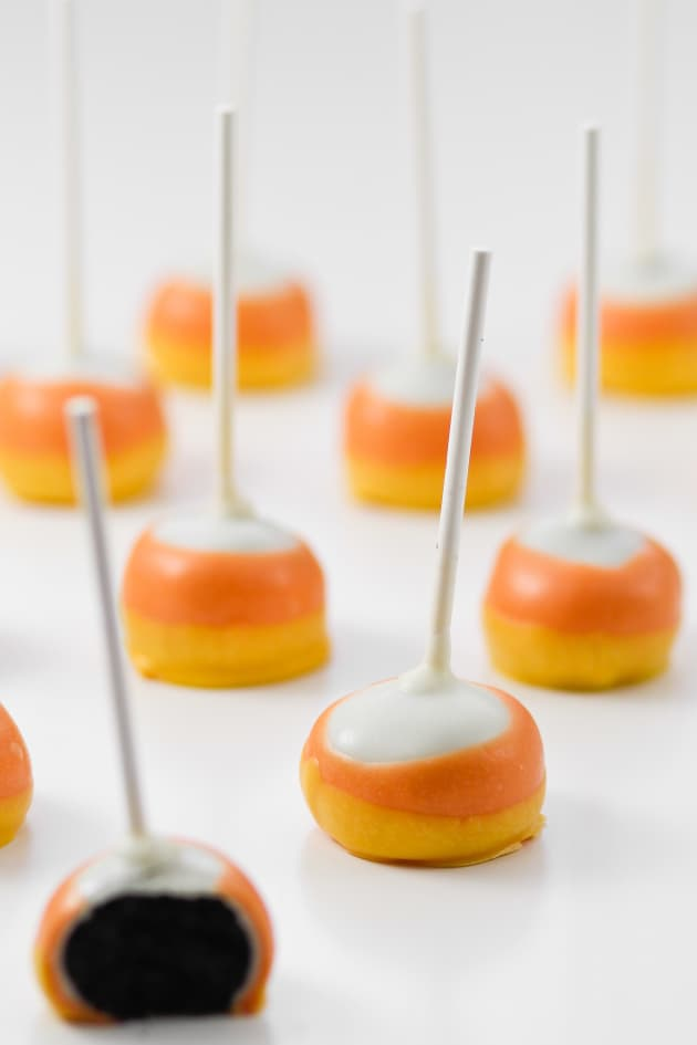 Candy Corn Oreo Pops Image