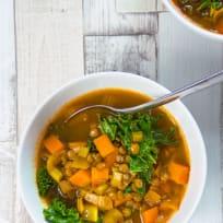 Chunky Vegan Vegetable and Lentil Soup