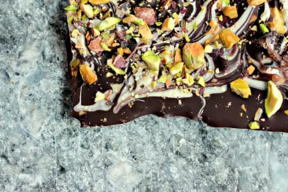 Marble Bark with Pistachios and Fleur de Sel: Sweet & Salty