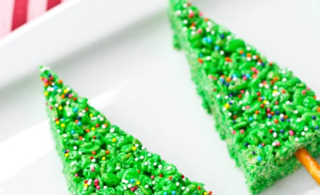 Christmas Tree Rice Krispie Treats Recipe Photo