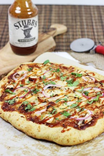 BBQ Chicken Pizza Photograph