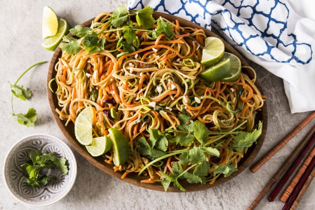 Thai Peanut Noodles with Spiralized Vegetables Photo