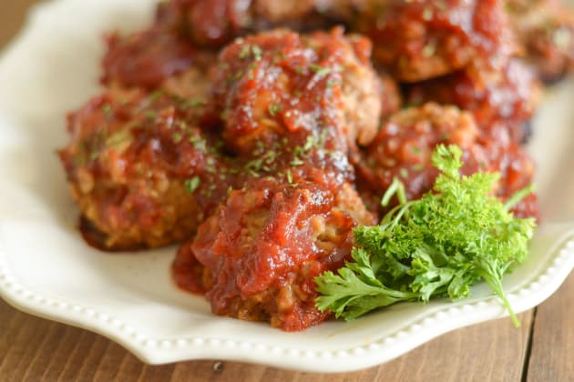 Gluten Free Slow Cooker Tangy Turkey Meatballs Photo
