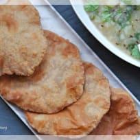 Kuttu (Buckwheat flour) poori recipe