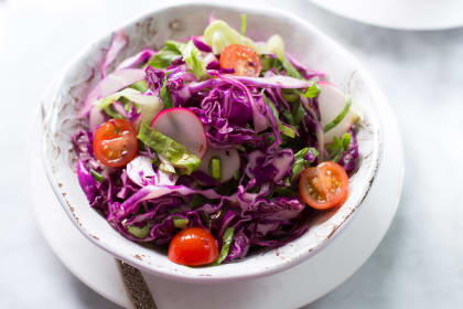 Quick Easy Red Cabbage Salad