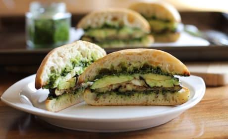 Roasted Eggplant Kale Pesto Sandwich Picture