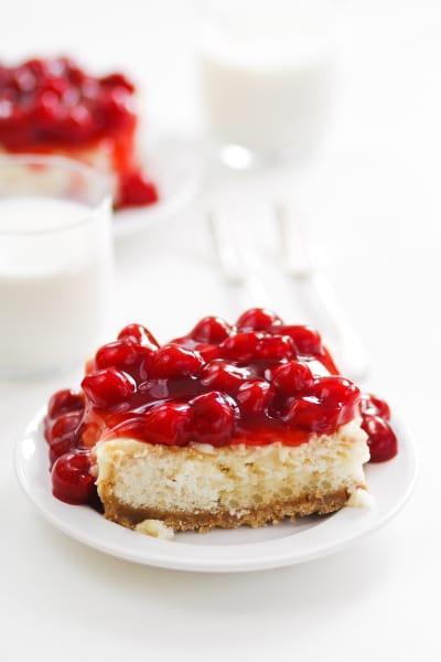 Cherry Cheesecake Poke Cake Image