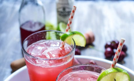 Cherry Lime Rickey with Gin Picture