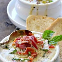 Pesto Potato Soup