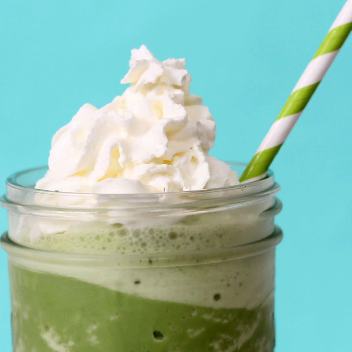 copycat Starbucks green tea frappuccino