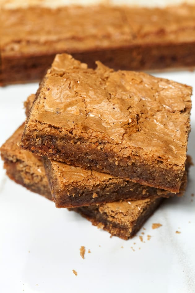 Brown Butter Blondies with Toffee and Hazelnut Picture