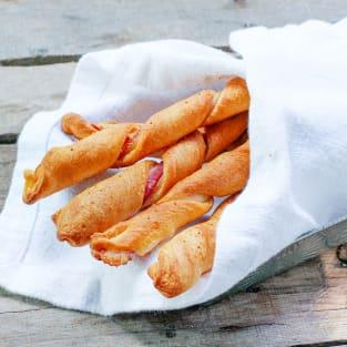 Bacon twist breadsticks photo