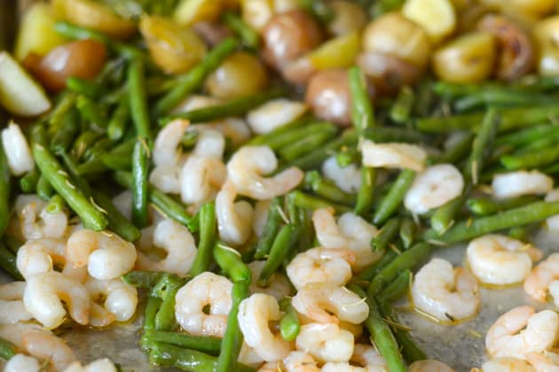 Garlic Rosemary Shrimp Sheet Pan Dinner Pic