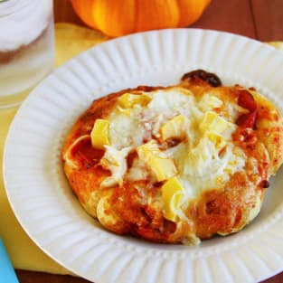 Pumpkin pizza dough picture