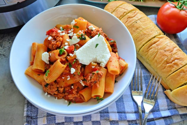 Instant Pot Sausage & Rigatoni with Goat Cheese Photo