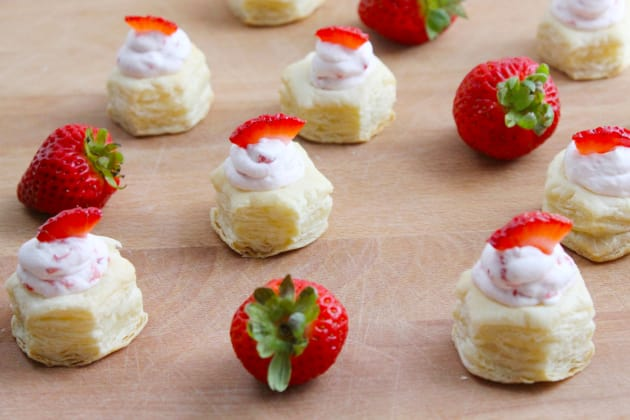 Strawberry Cream Puff Pastry Cups Image