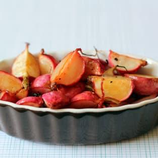 Roasted radishes photo