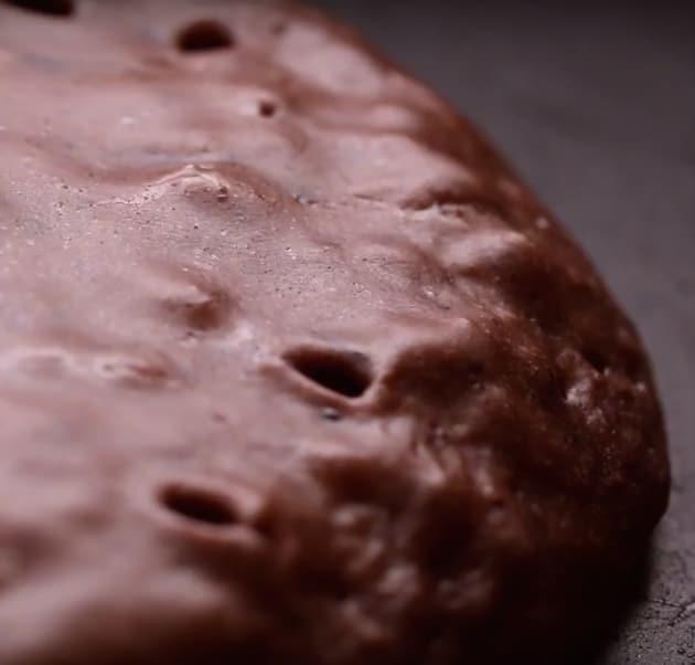 Making Chocolate Pancakes
