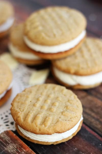 Peanut Butter White Chocolate Sandwich Cookies Image