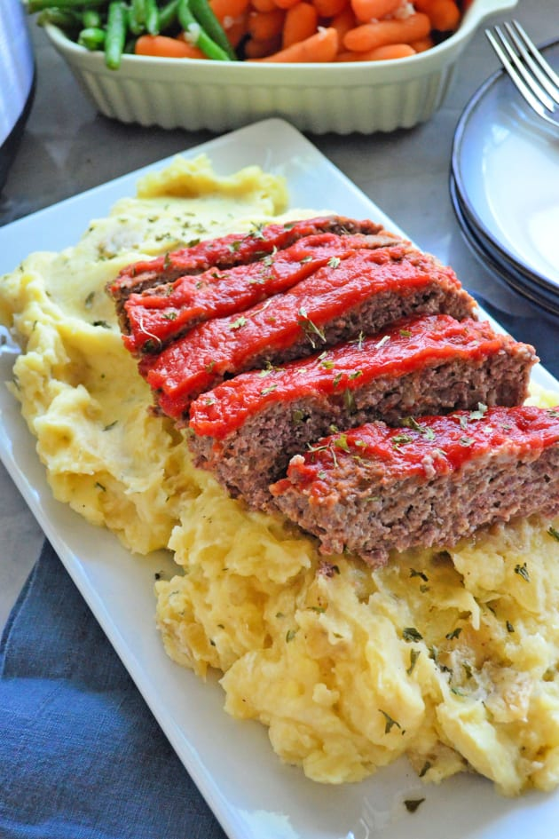 Instant Pot Meatloaf with Garlic Mashed Potatoes Picture
